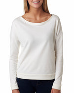 Load image into Gallery viewer, Ladies' French Terry Long-Sleeve Scoop