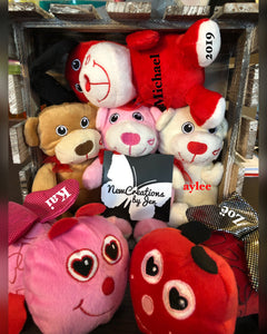 Personalized Valentines Stuffed Animal