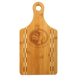 Load image into Gallery viewer, Natural Bamboo Cutting Board with Butcher Block Inlay