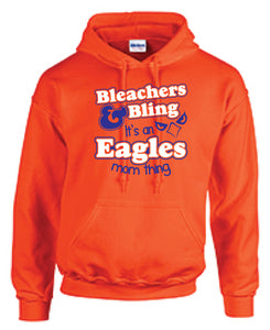 Bleachers and Bling Basic Hoodie