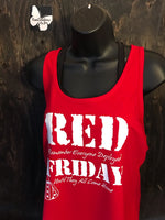Load image into Gallery viewer, R.E.D. Ladies' Flowy Racerback Tank
