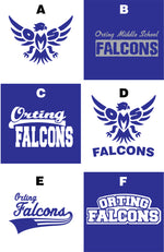Load image into Gallery viewer, Falcon Fan Large Custom Zippered Bag