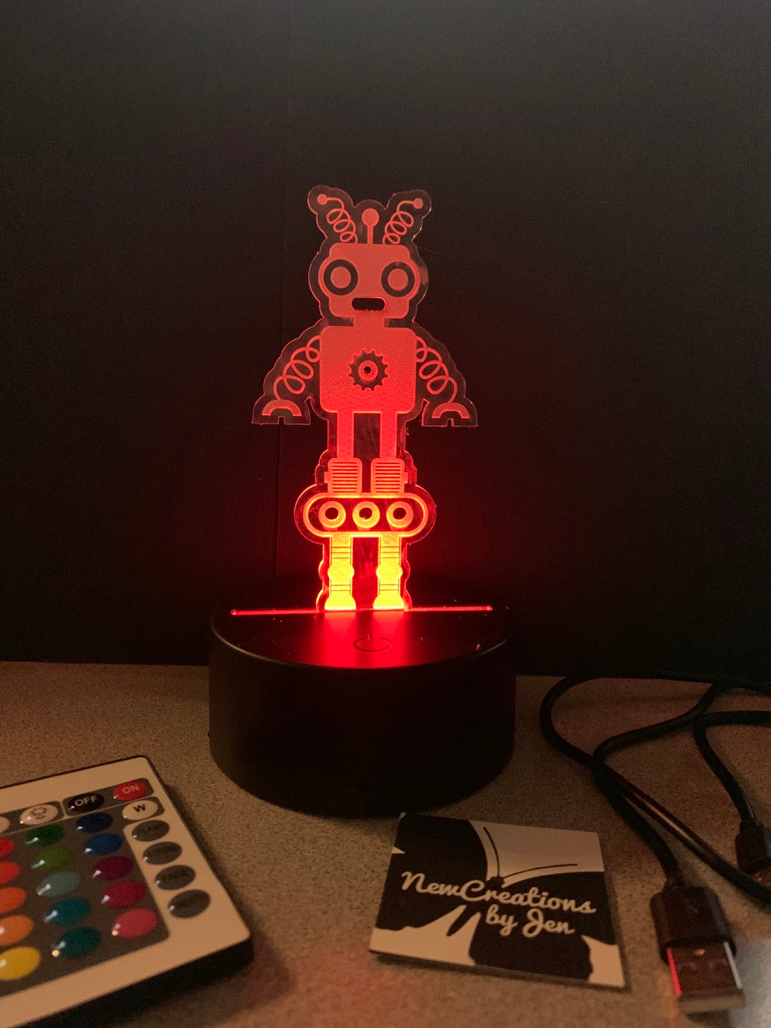 LED Personalized Lamp Display