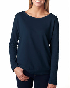 Ladies' French Terry Long-Sleeve Scoop