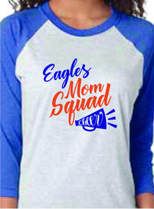 Eagles Mom Squad Cheer or Football