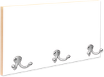 "Load image into Gallery viewer, 16"" x 8"" Full Color Coat Hanger with 3 Silver Hooks"