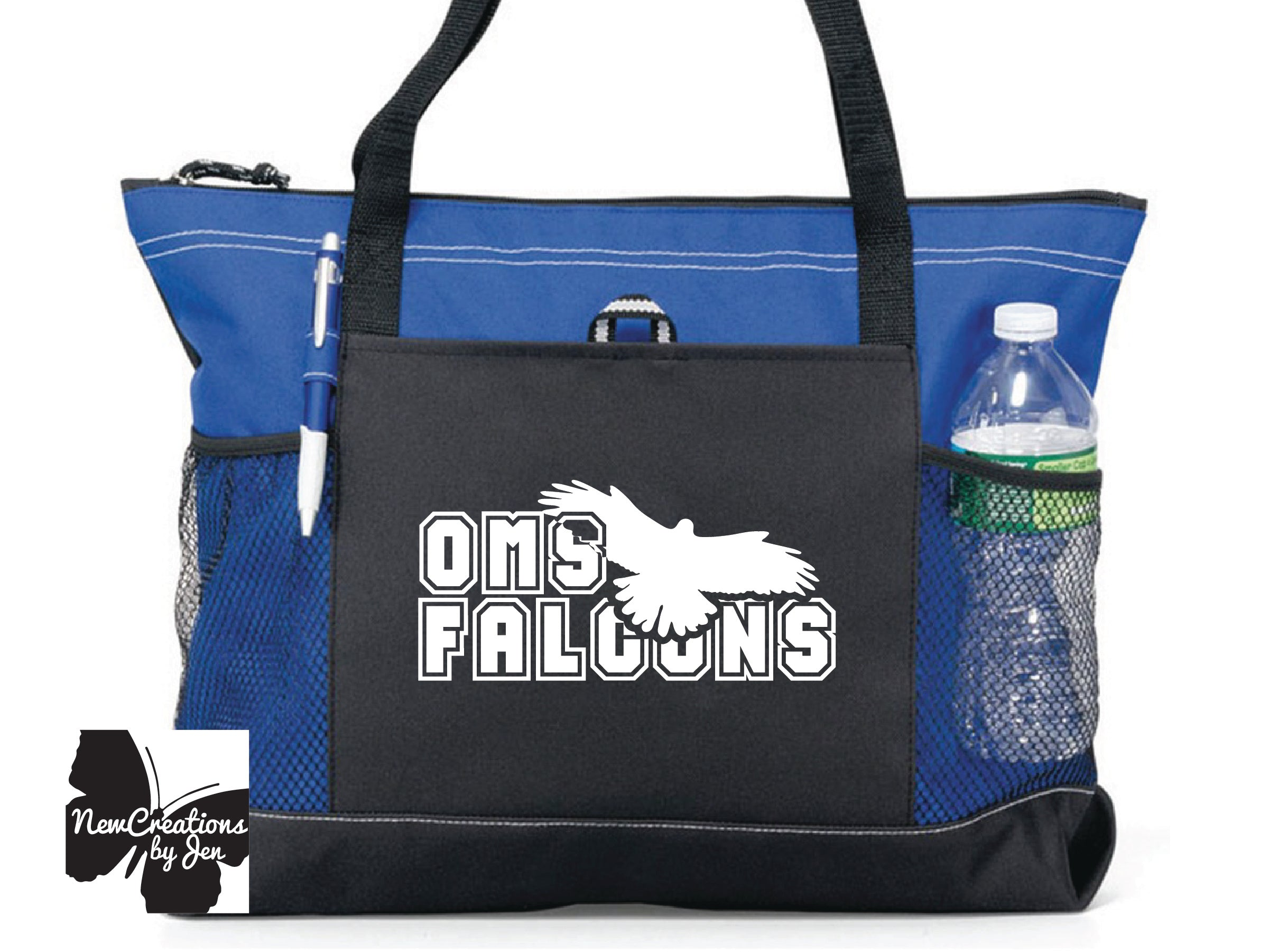 Falcon Fan Large Custom Zippered Bag