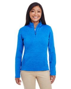 5K DevonJones Ladies' Newbury Mélange Fleece Quarter-Zip
