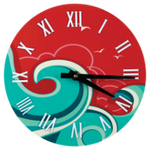 "Load image into Gallery viewer, 8"" Round Clock - Full Color"