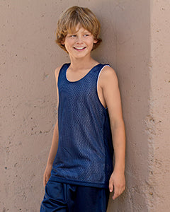 A4 Youth Reversible Mesh Tank