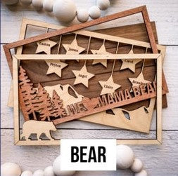 Hanging Stars Frame Sign - Personalized & Finished