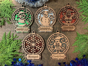Unique Christmas Ornaments - Generic or Personalized