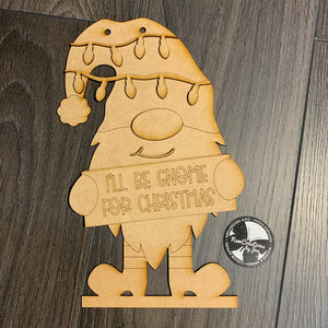 Door Hanger - I'll be Gnome for Christmas