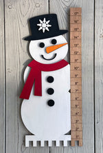 Load image into Gallery viewer, Snowman with Snow Ruler - Ready to Paint