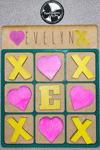 Personalized Tic Tac Toe Boards