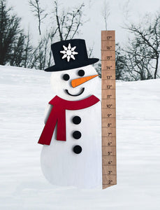 Snowman with Snow Ruler - Ready to Paint