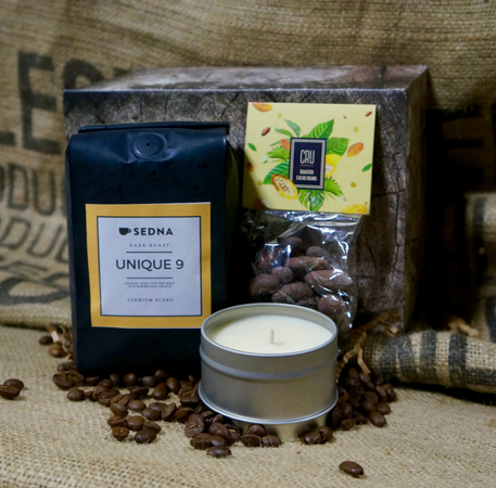 The 3 C's  Coffee, Cocoa beans and Coffee Candle