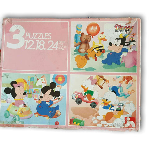 Wooden Puzzle Set Of 3