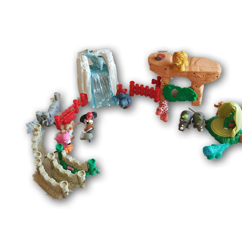 Little People Cave And Waterfall Set With 8 Animals (Animals May Vary)