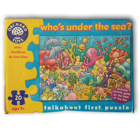 Who'S Under The Sea 20 Pc Puzzle