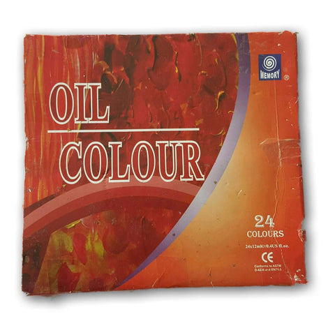 Oil Colours. 21 Tubes, Lightly Used