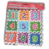 Number foam puzzle set. 3 inch squares