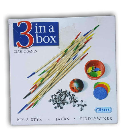 3 in a box game set - Toy Chest Pakistan