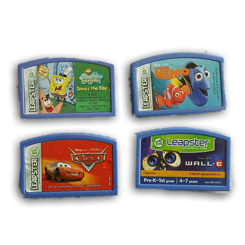Leapster Learning Game System Cartridges- Set Of 4