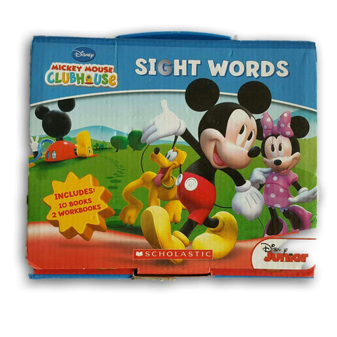 Mickey Mouse Sight Word Book Set (10 Books, 2 Workbooks)