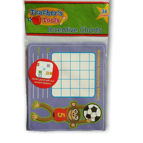 Teacher Resource - Incentive Charts. Pack Of 36