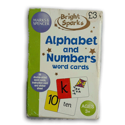 Alphabet and Numbers word Cards