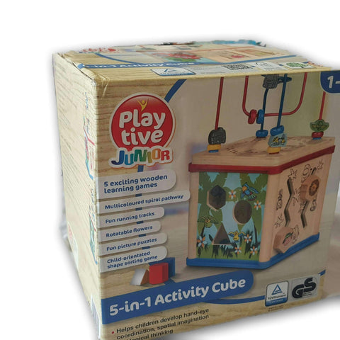 Playtive Junior 5 In 1 Activity Cube No Box