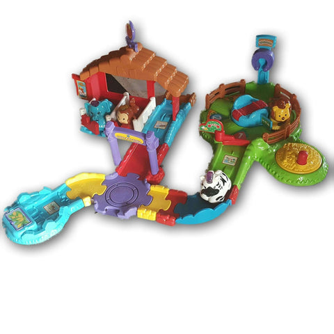 Vtech Go Go Smart Animals Track Set(With Four Animals: Lion, Zebra, Elephant And Monkey)
