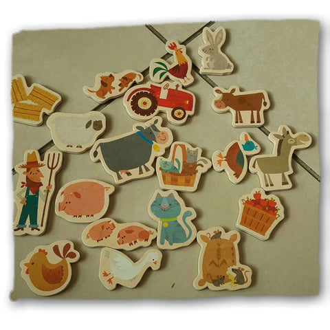 Magnetic Fridge Farm Animals