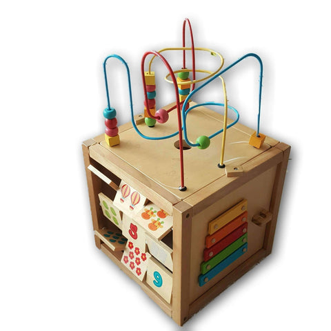 Elc Large Wooden Activity Cube