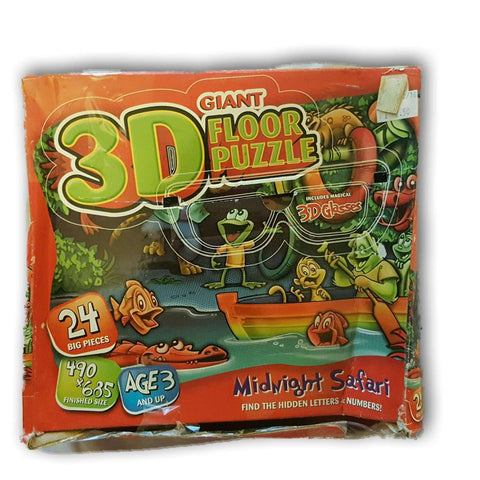Midnight Safari 3D Puzzle, No Glasses