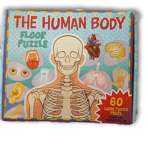 The Human Body Floor Puzzle 60 Pc