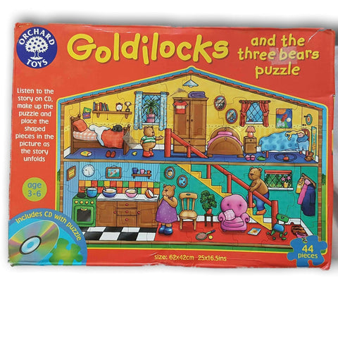 Goldilocks And The Three Bears Puzzle 44Pc No Cd