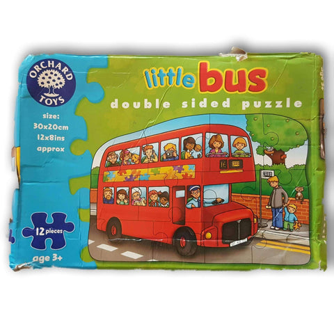 Little Bus Double Sided Puzzle 12 Pc
