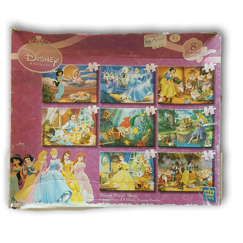 Disney Princess Puzzle Party 8 In 1