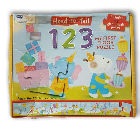 Head To Tail 1, 2, 3, Giant 12 Pc Puzzle