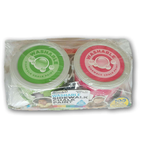 Washable Sidewlk Chalk Set Of 2 (Pink And Green)