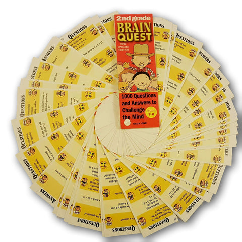 Brain Quest 2Nd Grade - Ages 7  To 8 (Both Decks)
