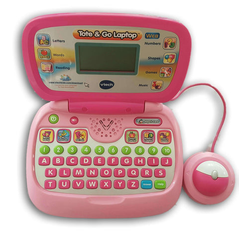 Vtech Tote N Go Laptop Web Connect- Pink