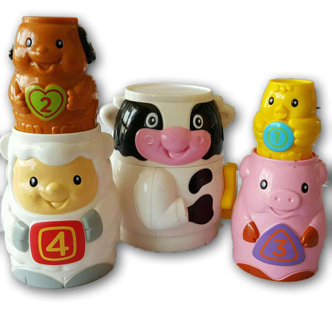 Stacking Animal Cups