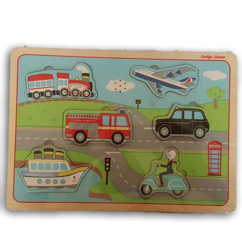 Wooden Vehicle Inset Puzzle