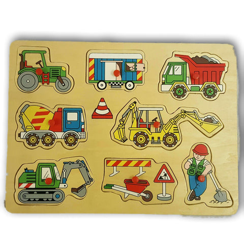 Wooden Vehicle Puzzle