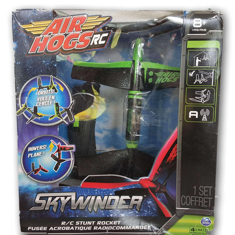 Air Hogs RC Skywinder - R/C Stunt Rocket Green NEW