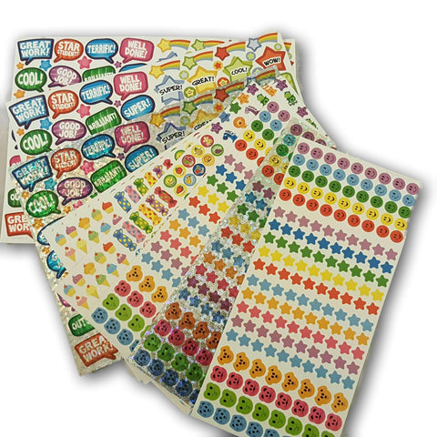 Sticker Sheets - 10 High Quality Sheets New