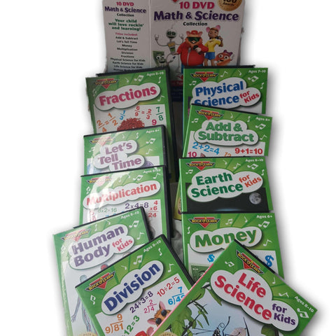 10 Dvd Math And Science Collection